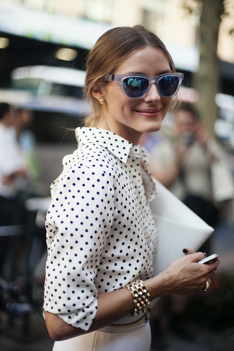 Блузка в горошек модная