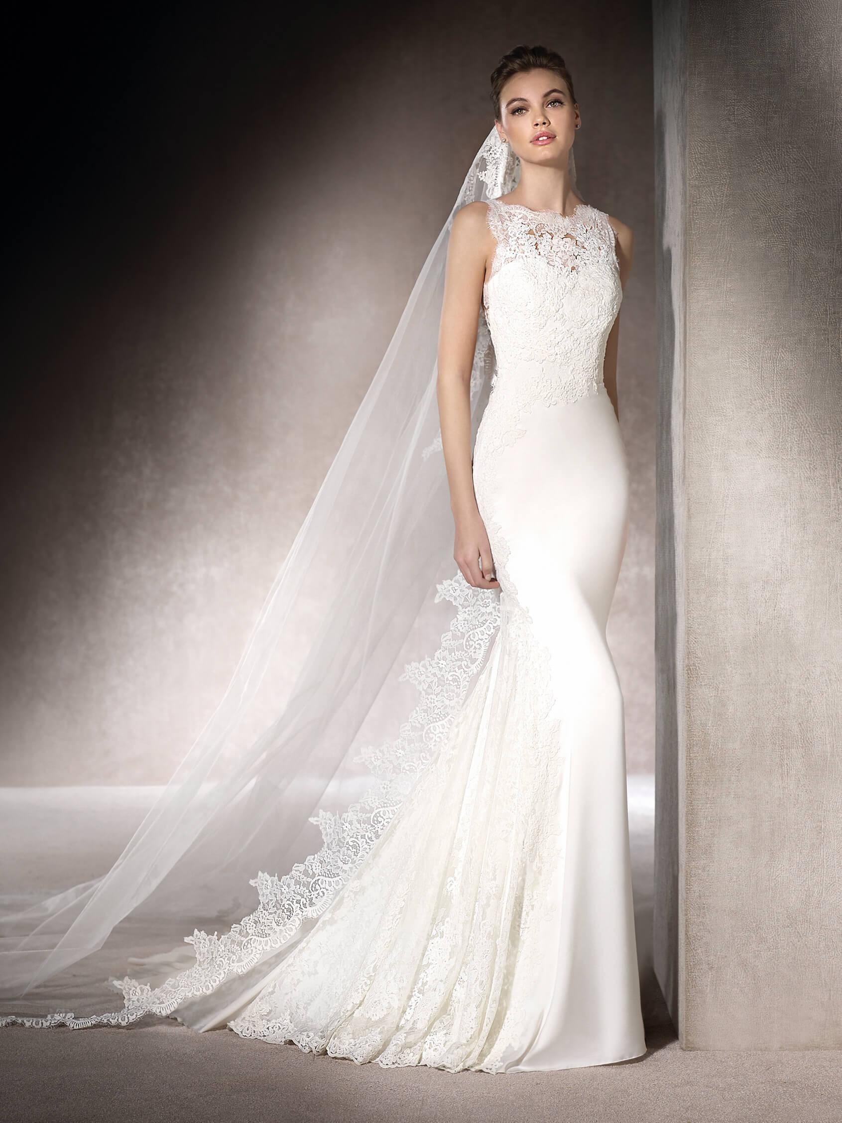 Свадебное платье рыбка облегающее