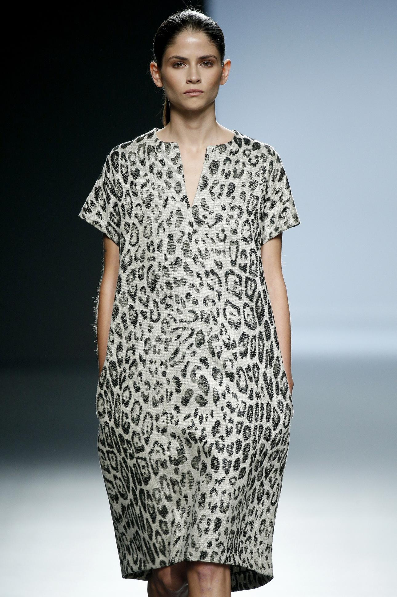 Платье леопардовое оверсайз