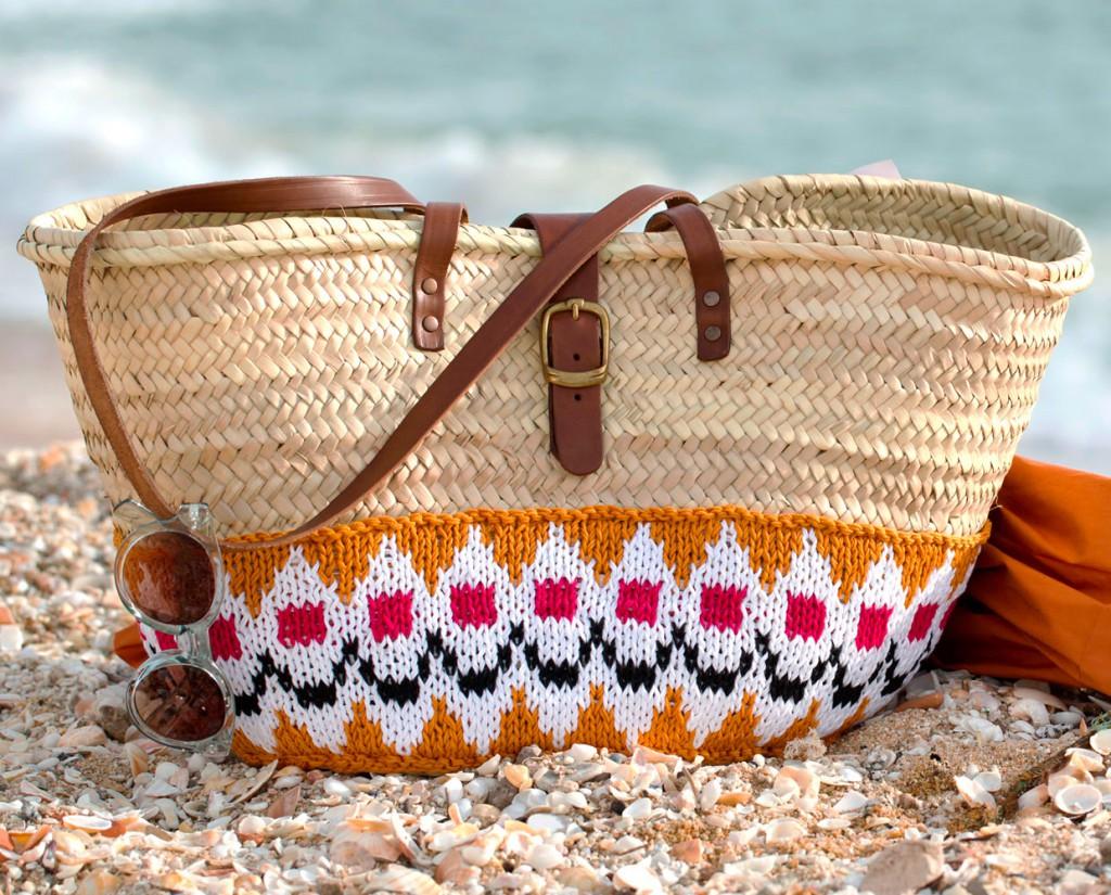 Вязаная сумка пляжная