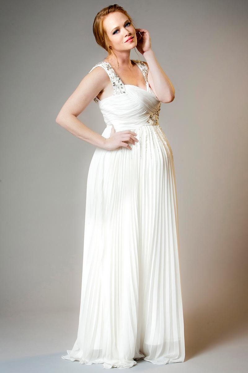 Свадебное платье для беременных плиссе