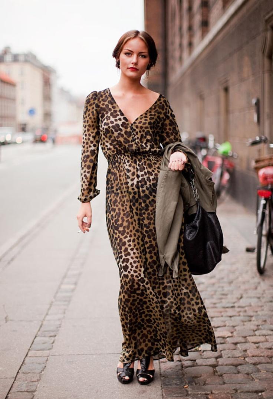 Платье леопардовое в пол