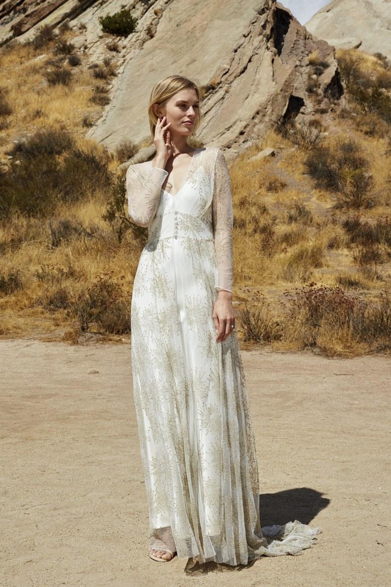 Свадебное платье для беременных с принтом