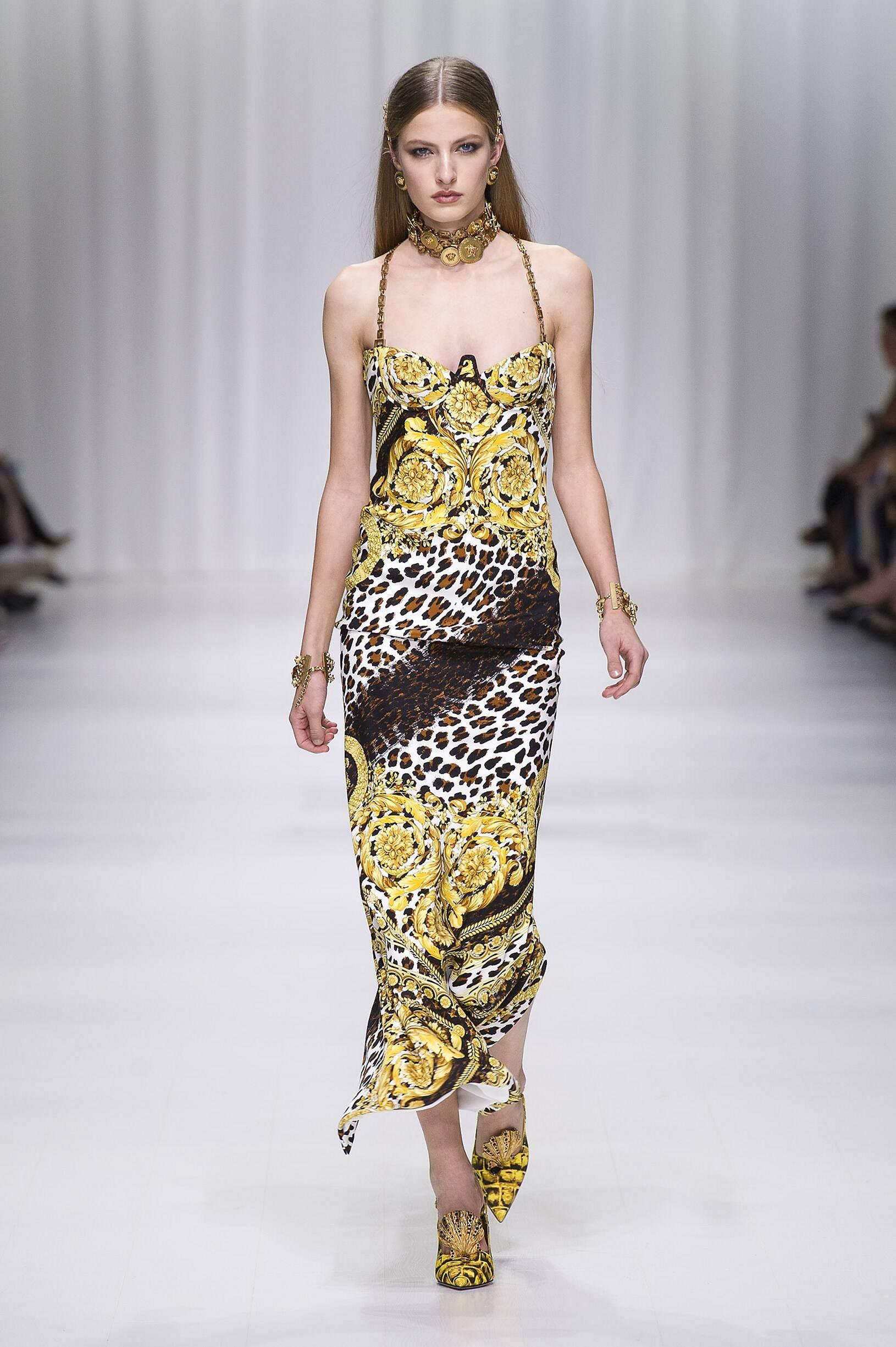 Повседневное платье с принтом анималистичным