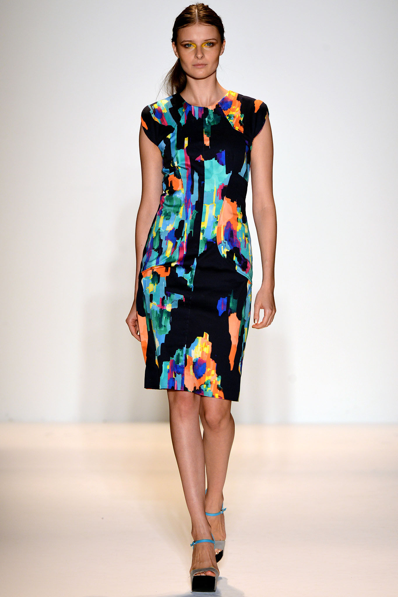 Повседневное платье разноцветное