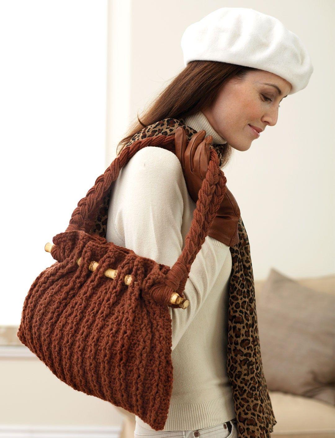 Вязаная сумка с ремнем