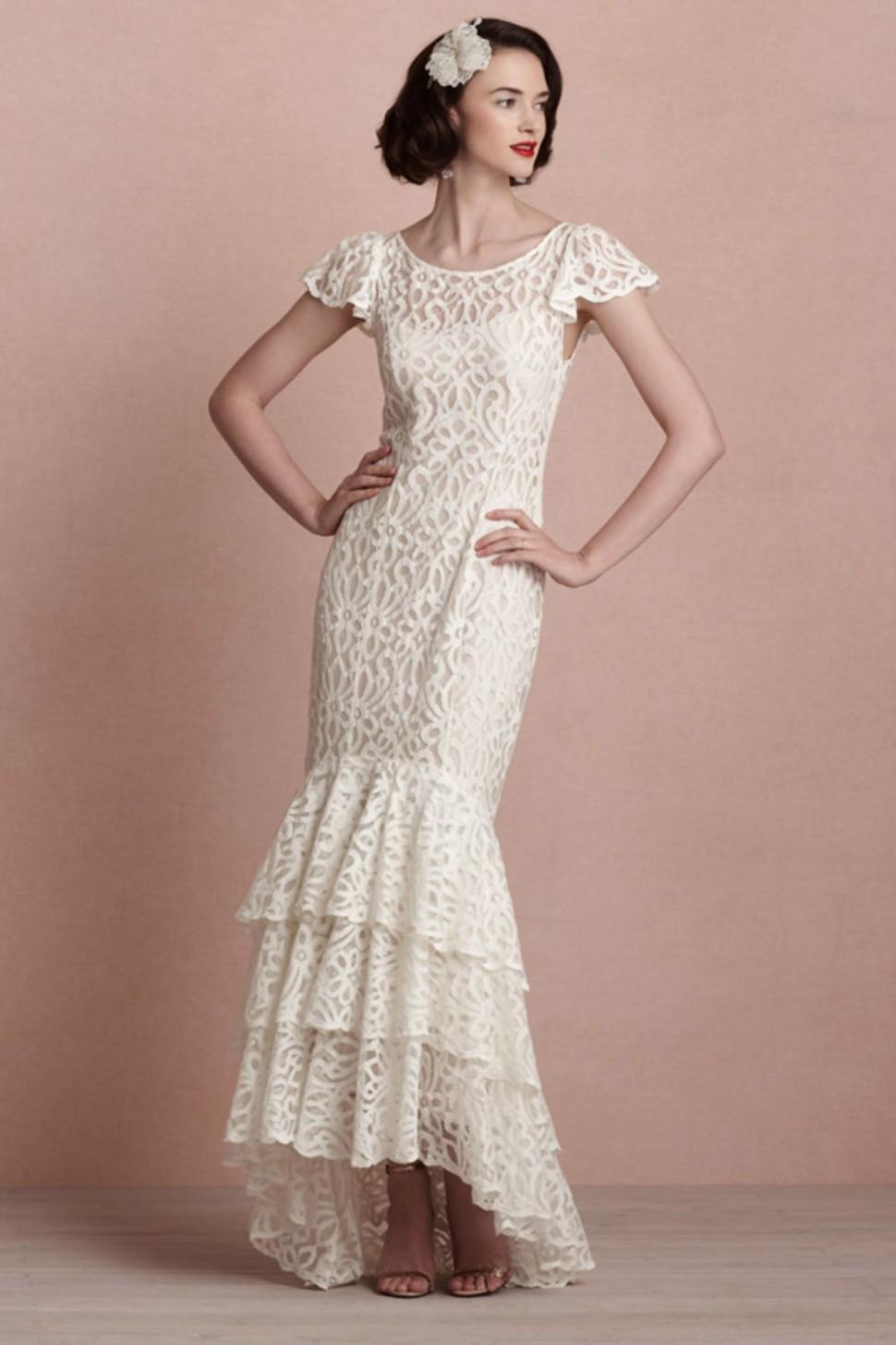 Свадебное платье рыбка в стиле ретро