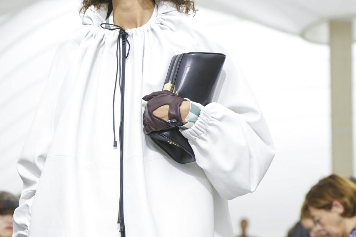 Клатч кожаный ручной