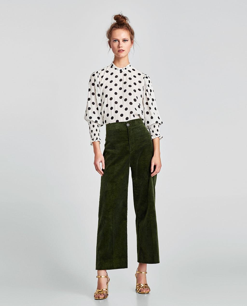 Блузка в горошек с рукавами