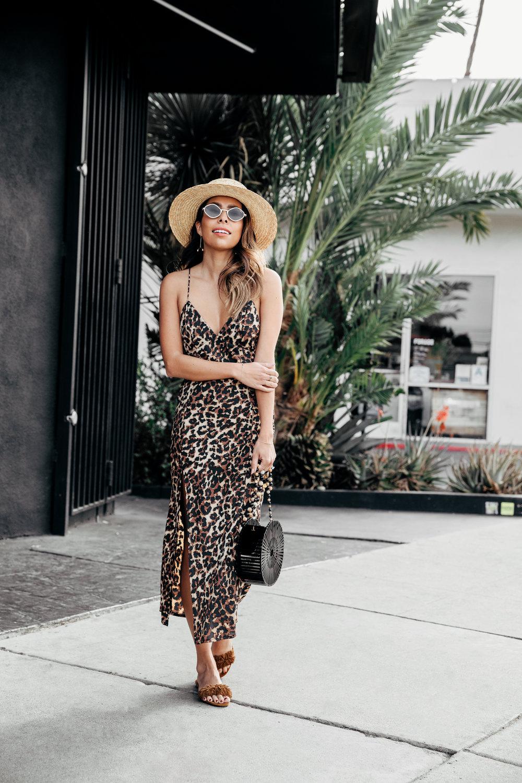 Платье сарафан леопардовое
