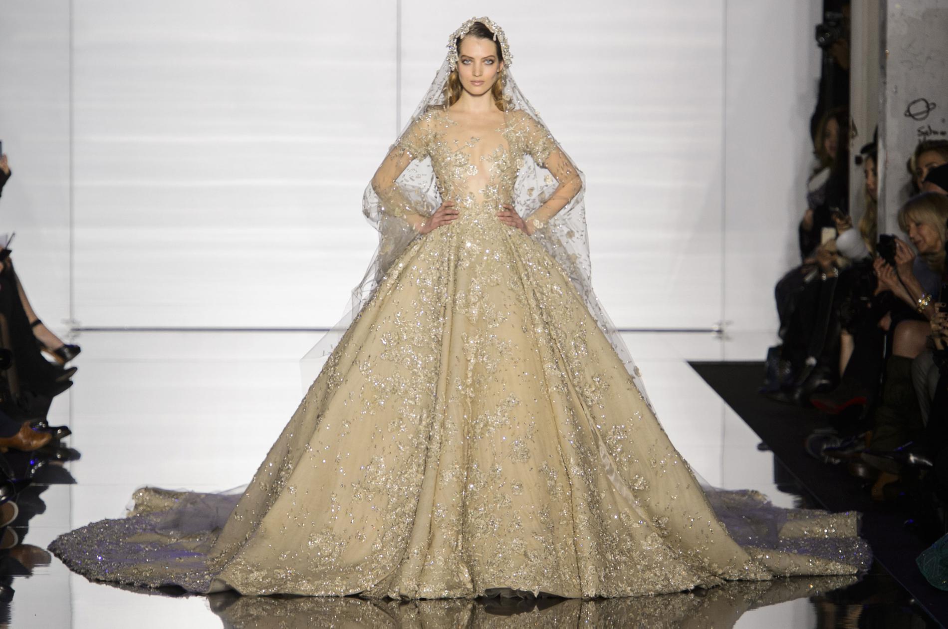 Свадебное платье айвори с серебром