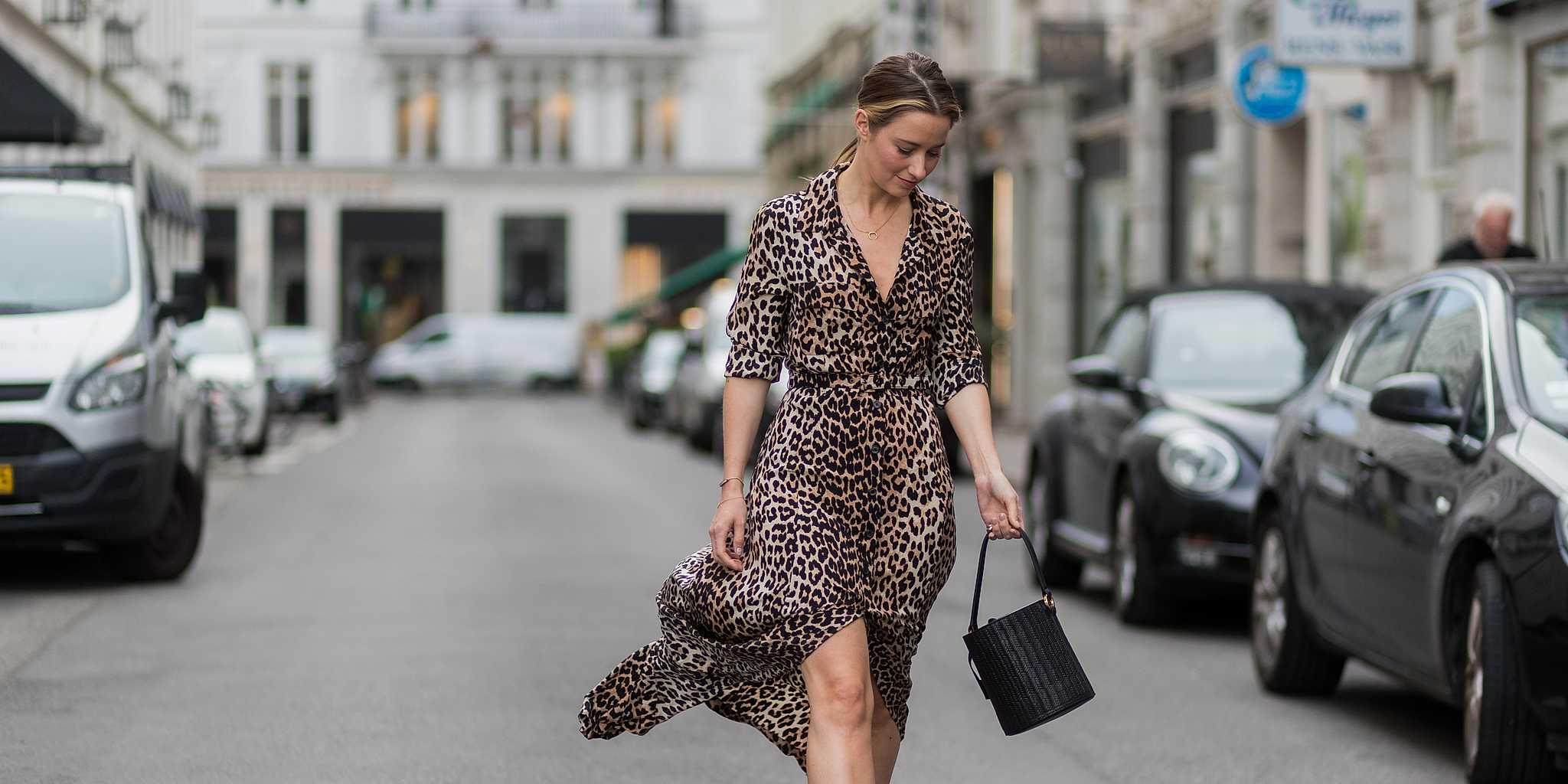 Платье леопардовое шелковое
