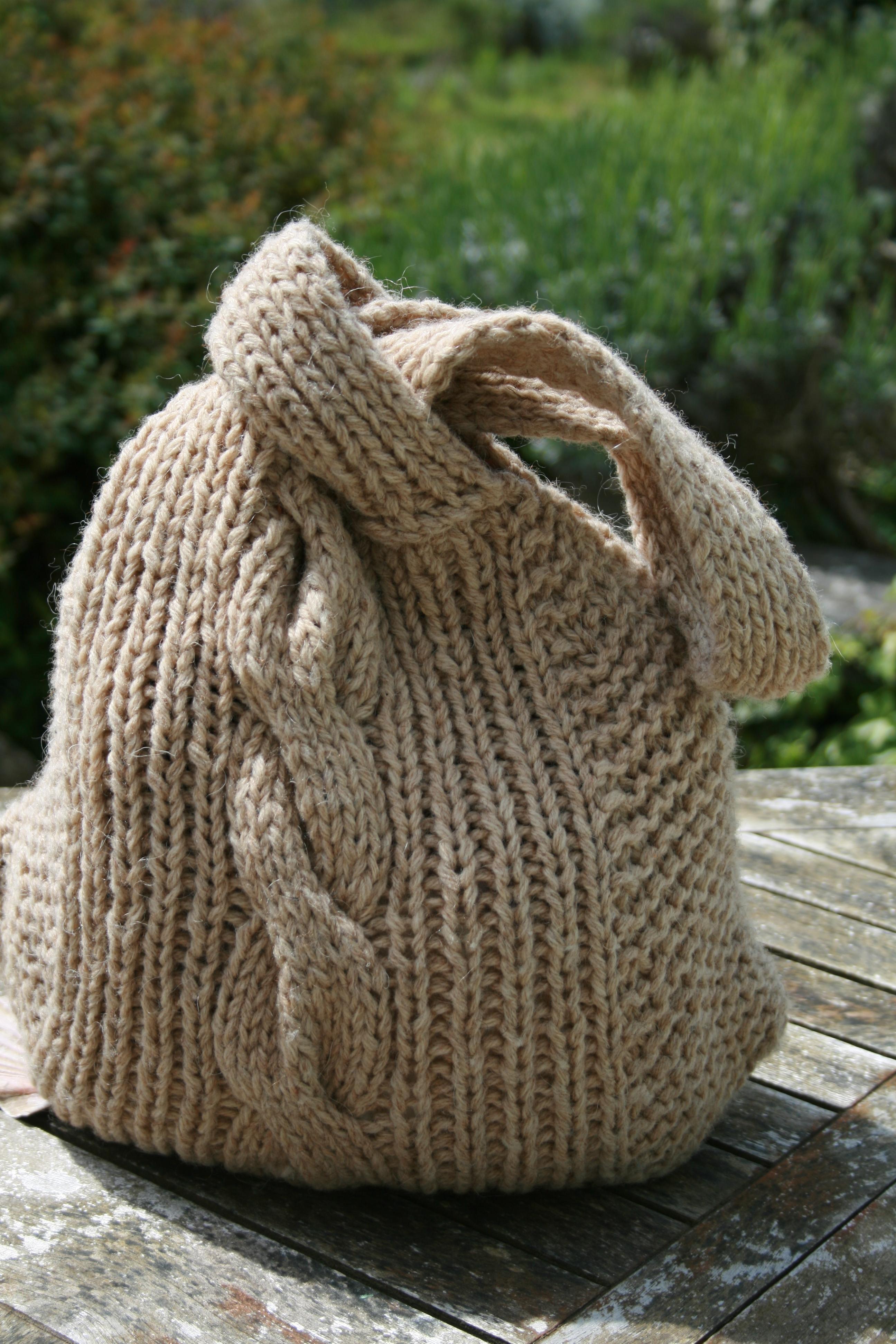 Вязаная сумка шерстяная