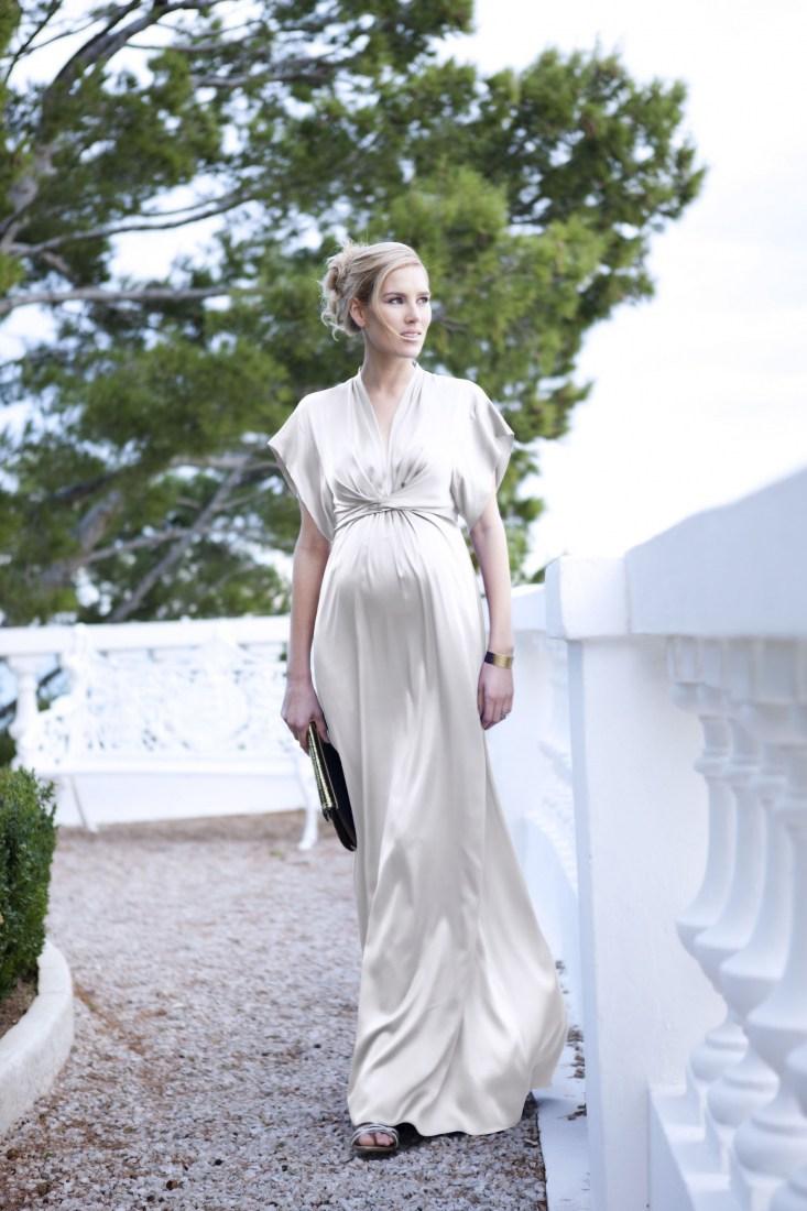 Свадебное платье для беременных слоновой кости