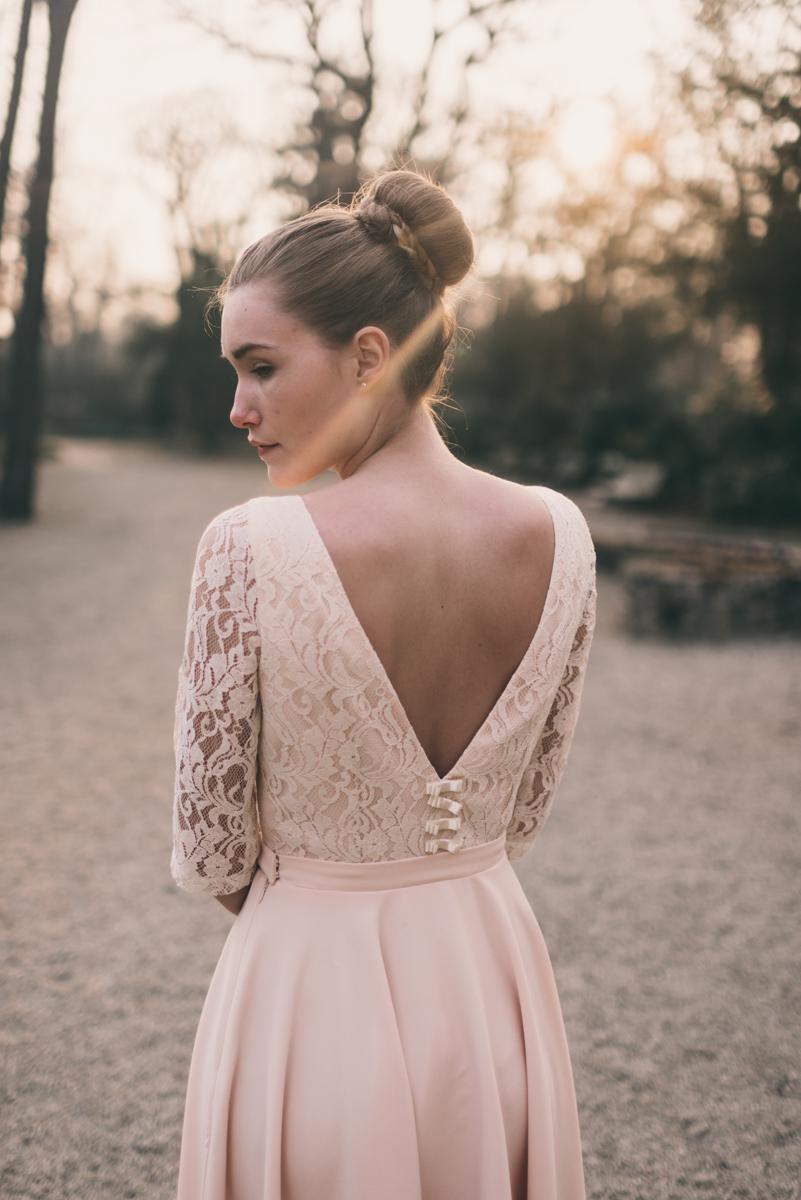 Свадебное платье айвори с открытой спиной