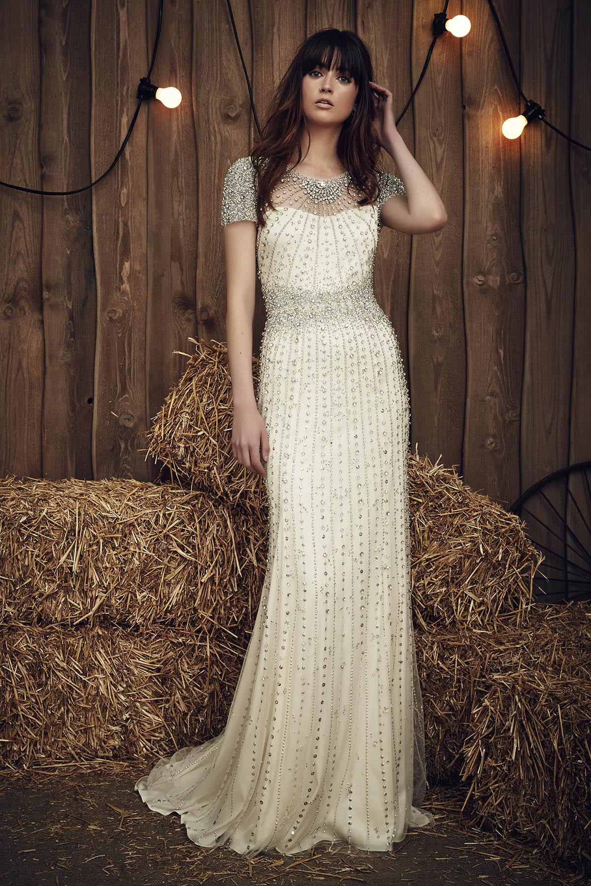 Свадебное платье айвори со стразами