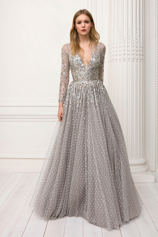 Серое платье свадебное с пайетками