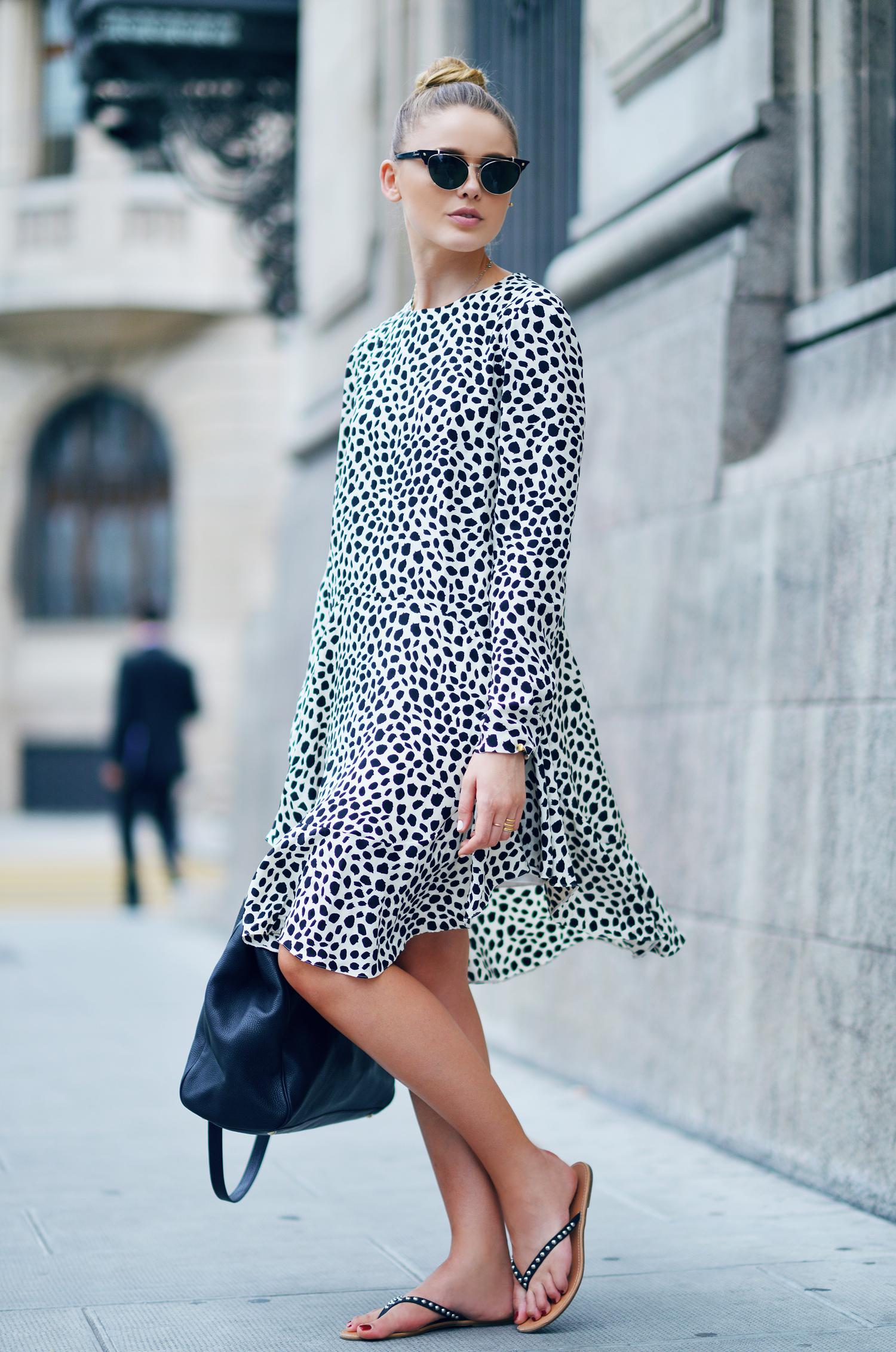 Платье леопардовое свободное