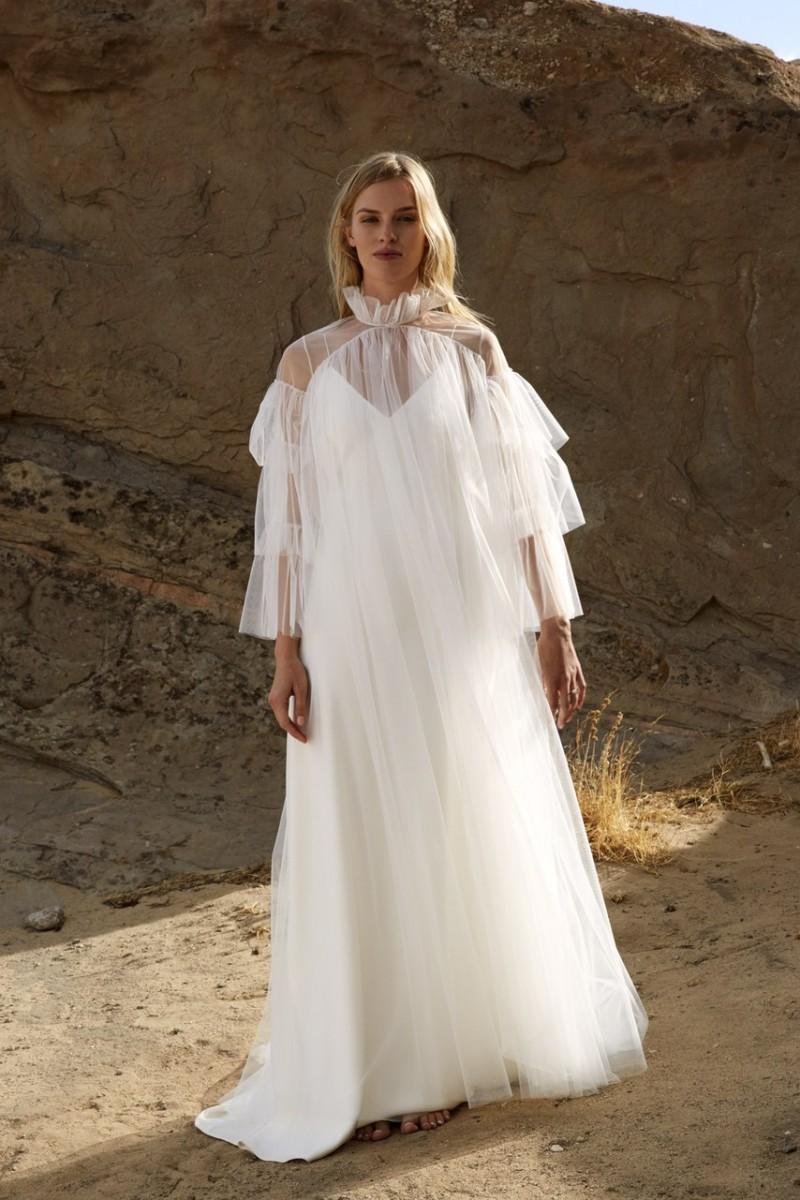 Свадебное платье для беременных из тюля