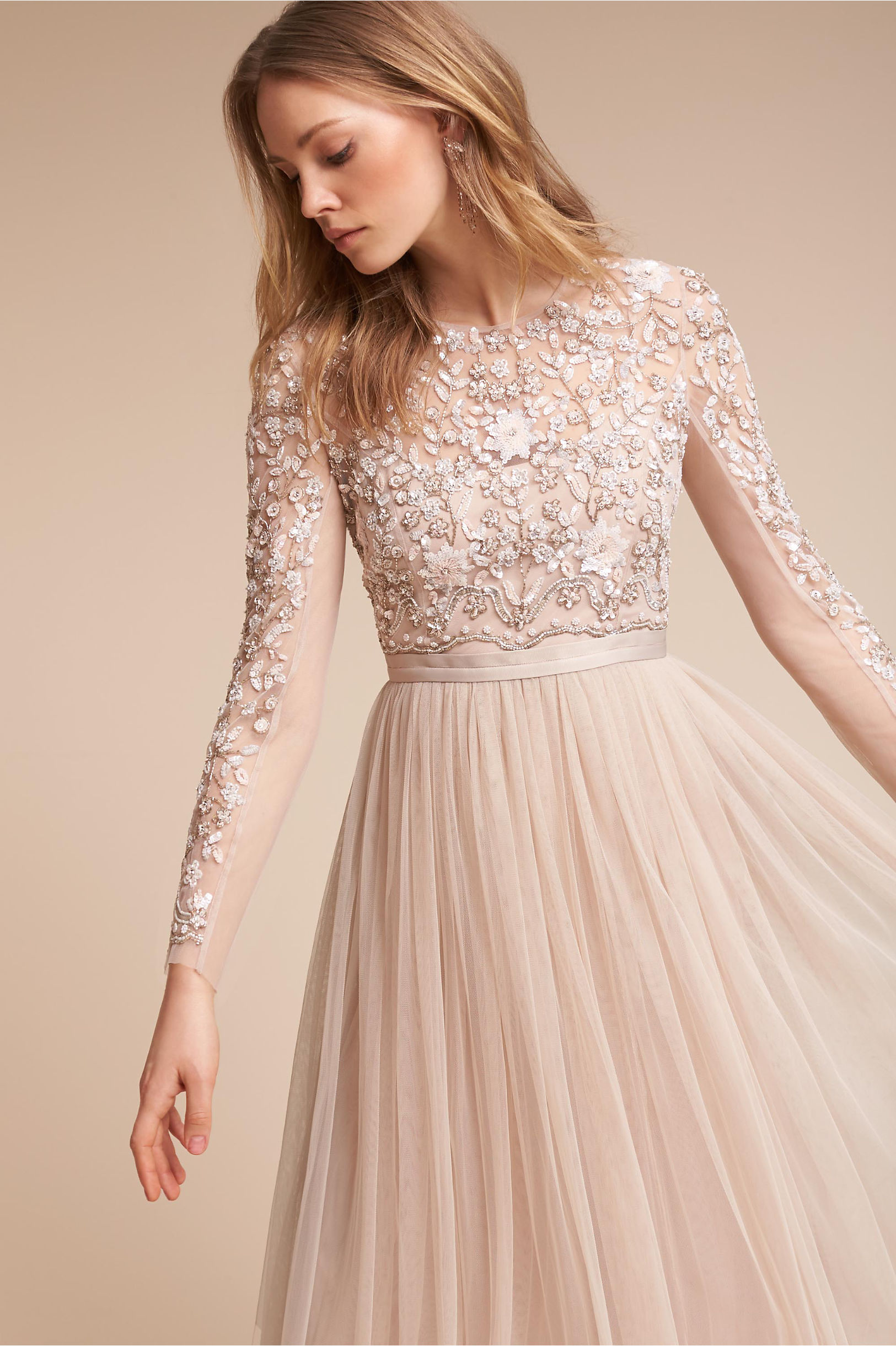 Свадебное платье айвори для венчания