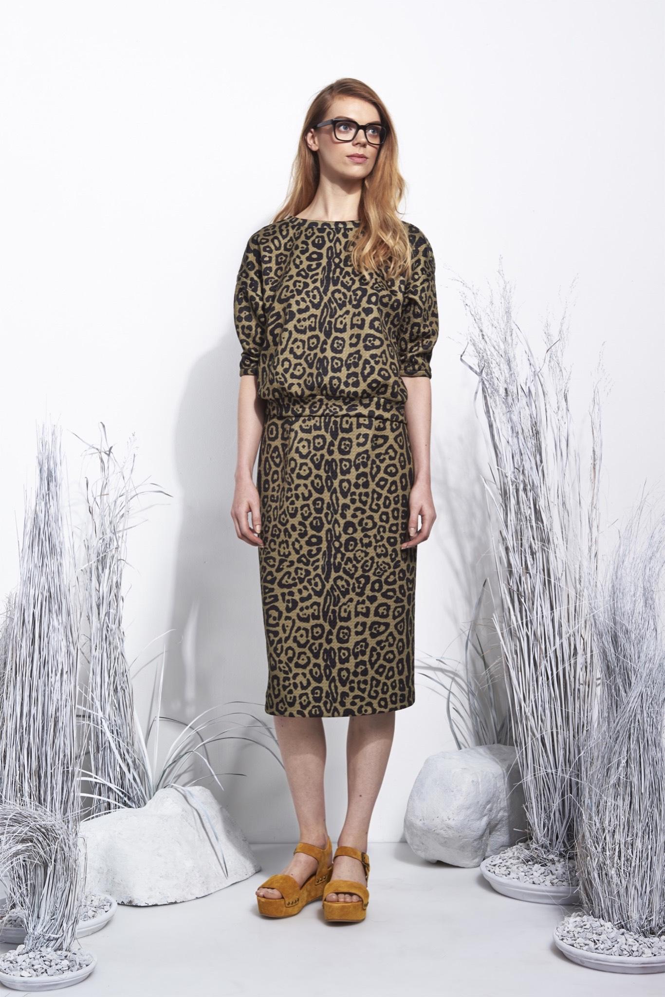 Платье леопардовое на весну