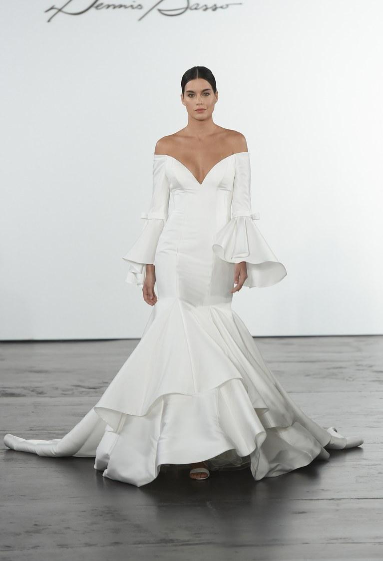 Свадебное платье рыбка с воланами