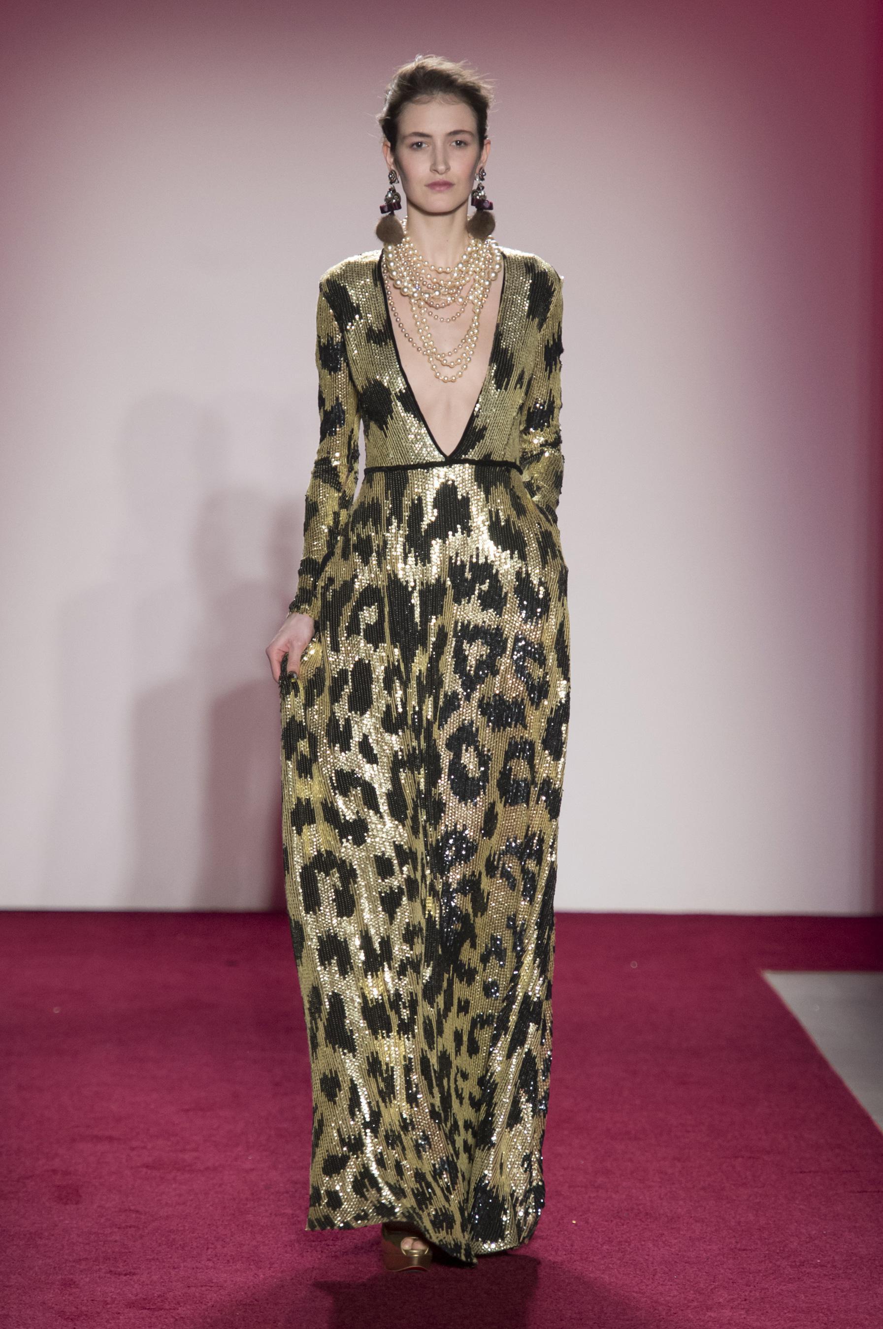 Платье леопардовое золотое