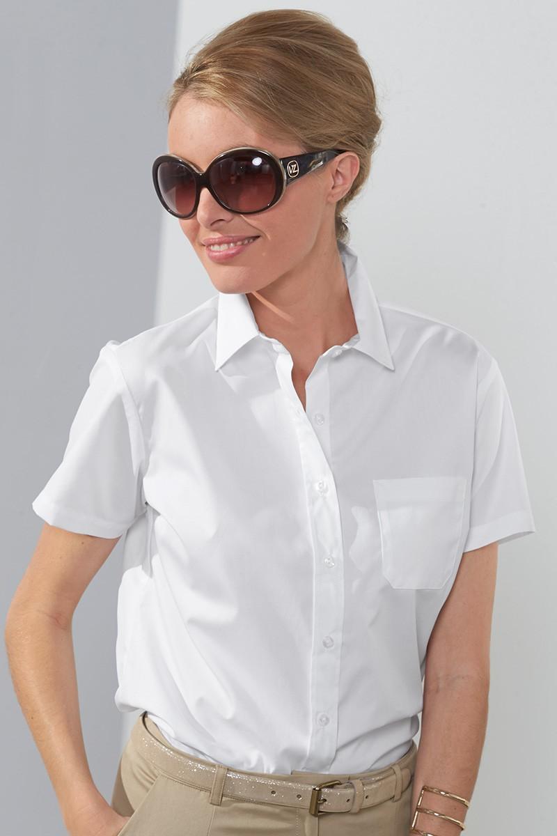 Блузка с коротким рукавом офисная