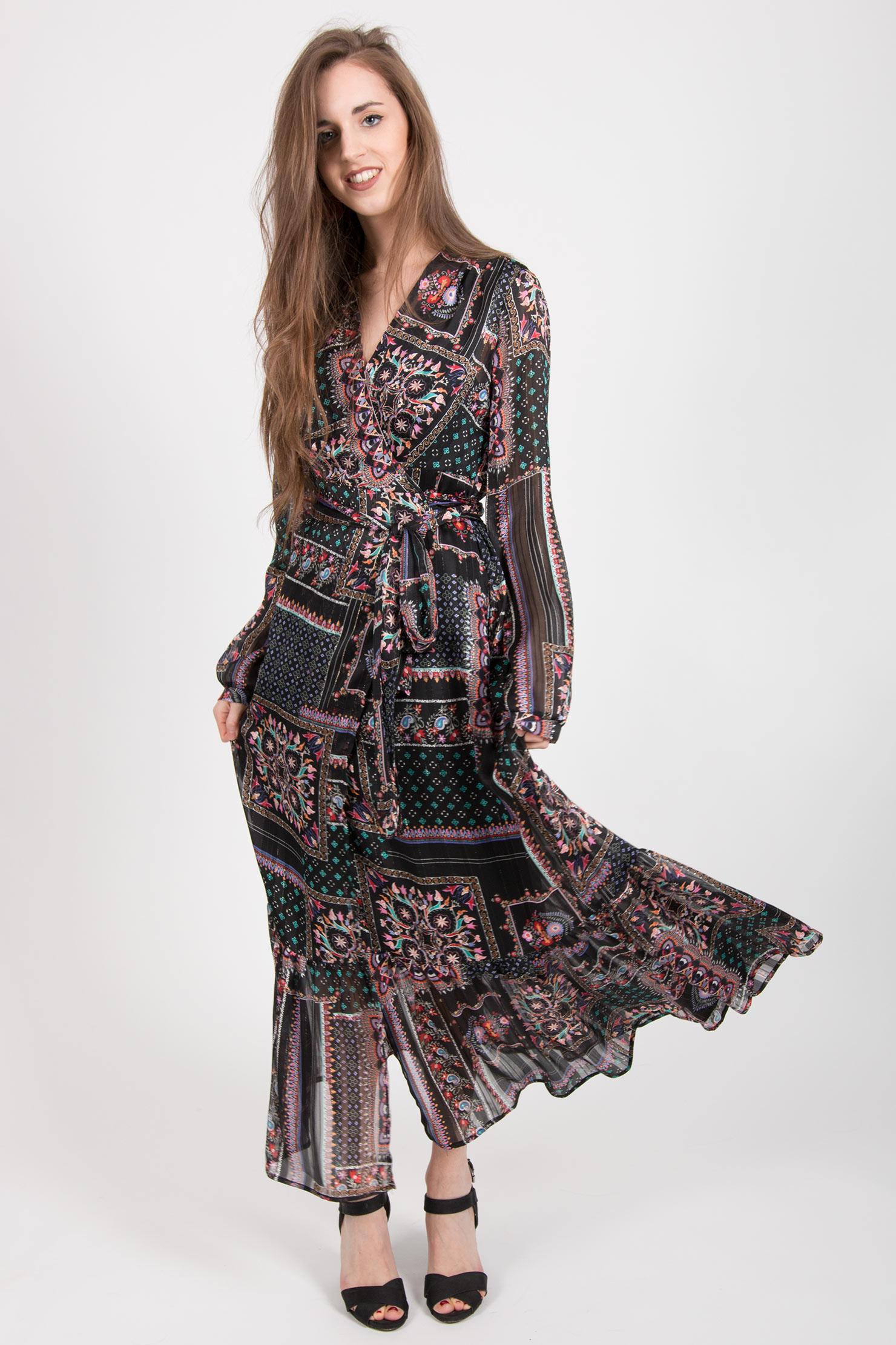 Платье с запахом бохо