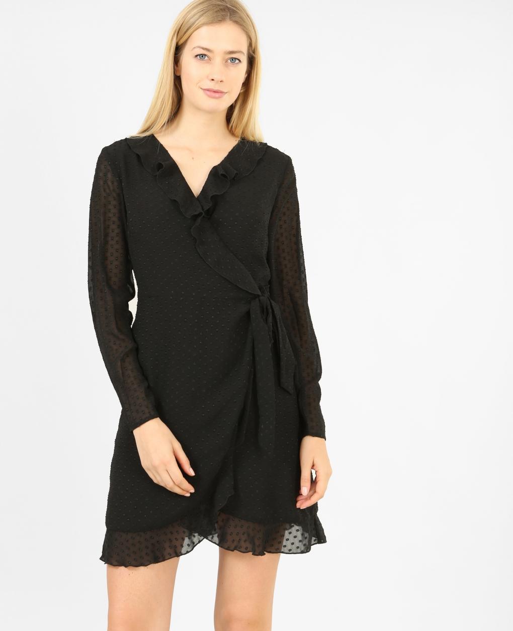 Платье с запахом шифоновое