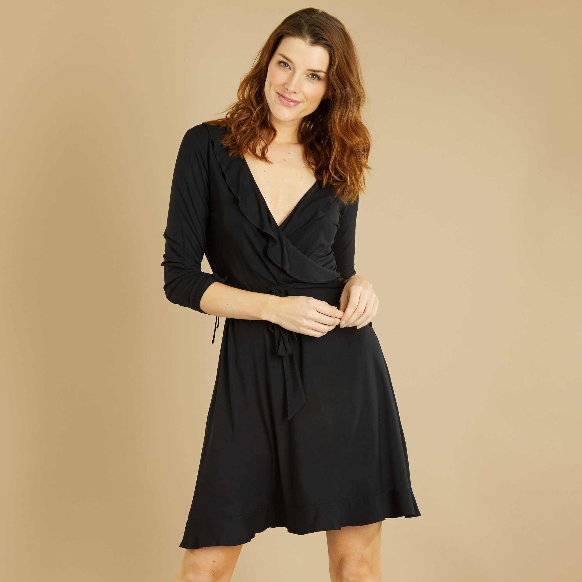 Платье с запахом свободное