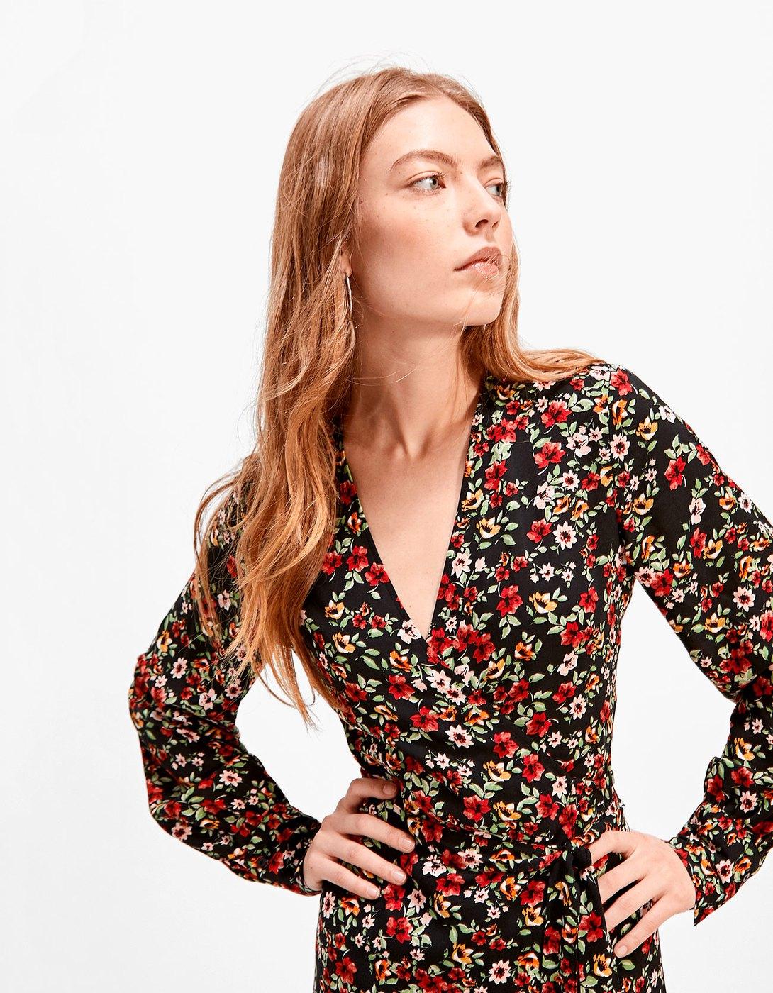 Платье с запахом весеннее