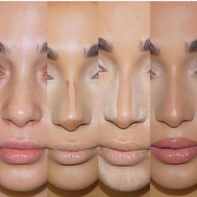 Как уменьшить горбинку носа макияжем фото
