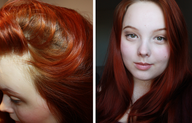 Окраска волос хной фото до и после