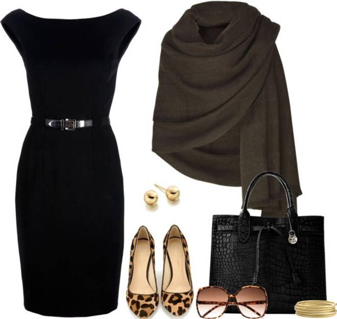 С Чем Можно Одеть Черное Платье