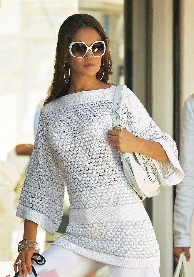 красивые платья туники крючком фото