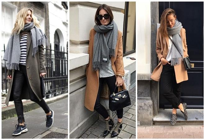 Kak-nosit-palantin-s-palto Как красиво завязать на голову шарф разными способами? Как красиво и стильно завязать шарф на голове летом, с пальто, мусульманке?
