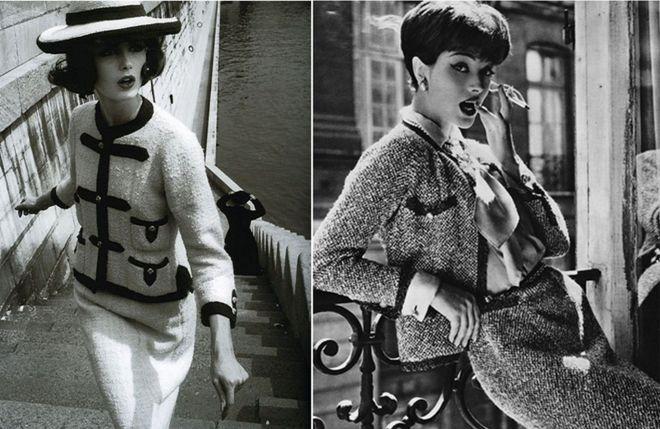 f407b9a5f4d3 Одежда Chanel, Твидовый Женский Костюм в Стиле Шанель с Юбкой ...