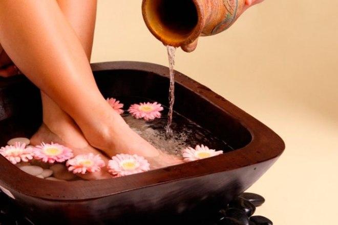 Солевые ванны для ног