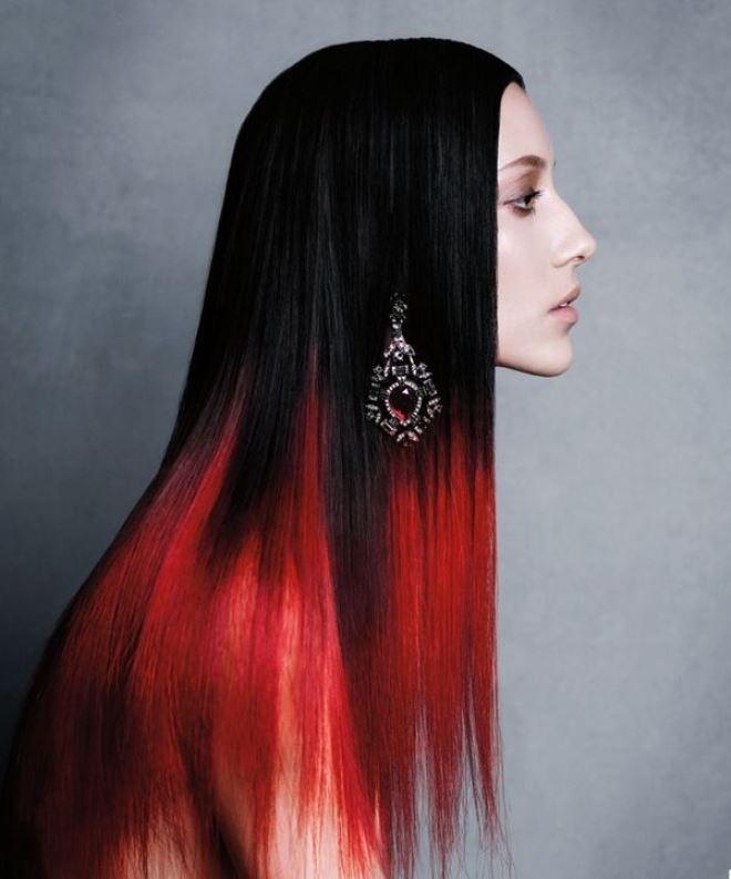 покраска волос красный черный картинки супруг
