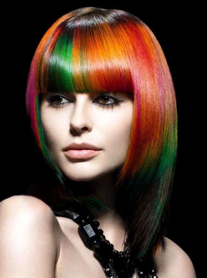 Блочное окрашивание волос фото