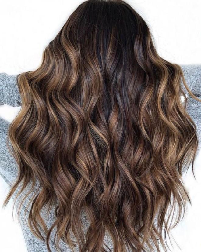 ухаживать колорирование волос фото на темных длинных волосах полагает