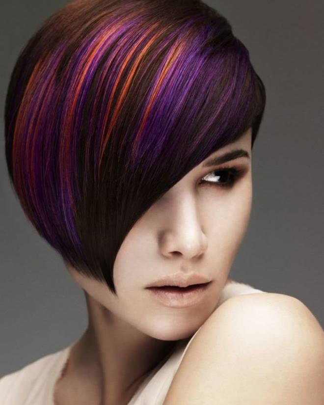 зелёная блочное окрашивание волос фото множество фотографии как