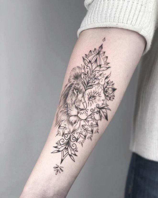 Татуировки на руке женские в картинках