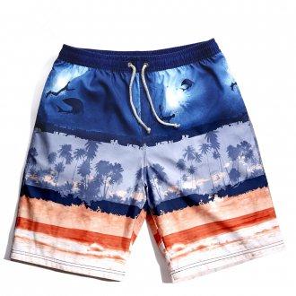 Стильные полосатые пляжные мужские шорты