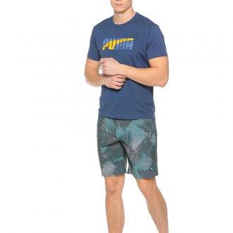Зеленые пляжные мужские шорты
