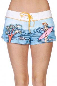 Пляжные женские шорты с рисунком