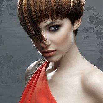 Креативная объемная стрижка на тонкие темные волосы