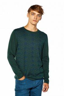 Зеленый мужской джемпер
