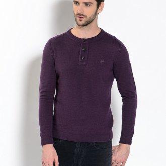 Фиолетовый трикотажный мужской джемпер